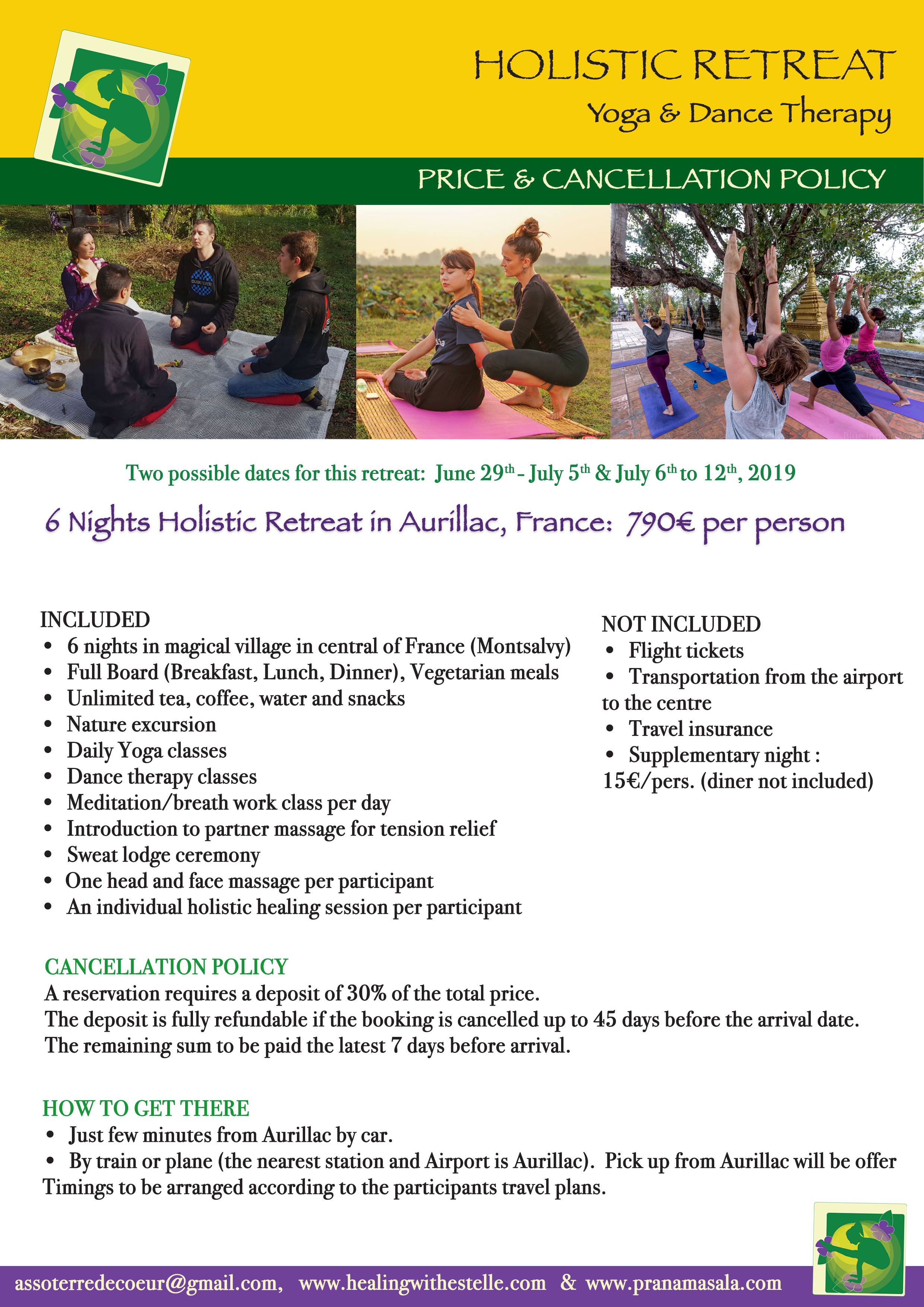 Retreat page 6 Aurillac BYRprices